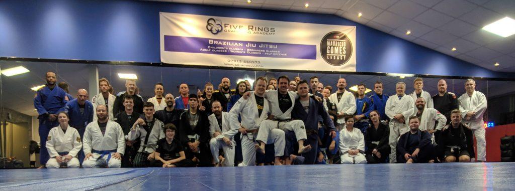 5 Rings BJJ Team Photo Jiu Jitsu Sheffield