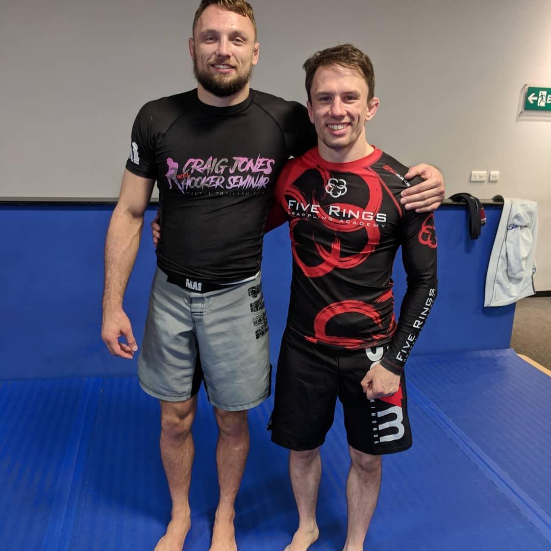 Craig Jones and Paul Cole at No Gi Seminar on Heelhooks