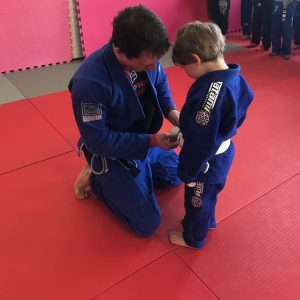 Ralph's first Brazilian Jiu Jitsu stripe Mansfield