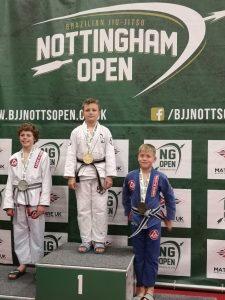 Karol Gold Medal BJJ Nottingham Open